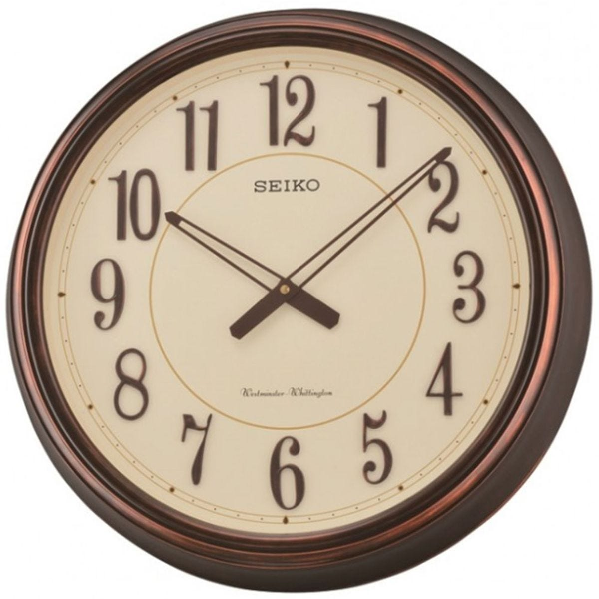 Seiko Westminster/Whittington Dual Chimes Wall Clock - Dark Brown