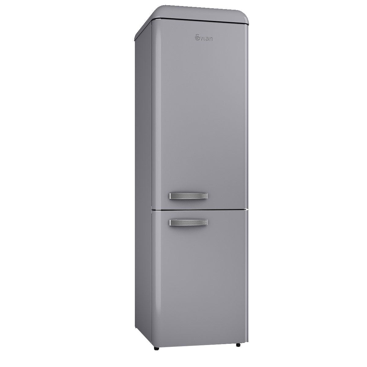 Swan SR11025GRN Retro Slimline Fridge Freezer - Grey