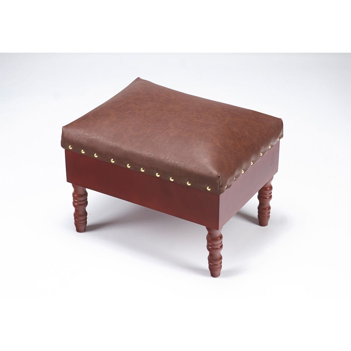 Gablemere Faux Leather Storage Footstool