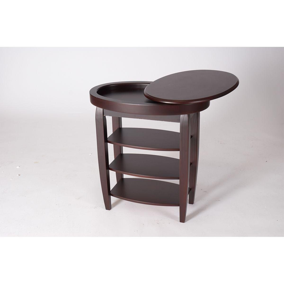 Gablemere Swivel Top Table - Mahogany