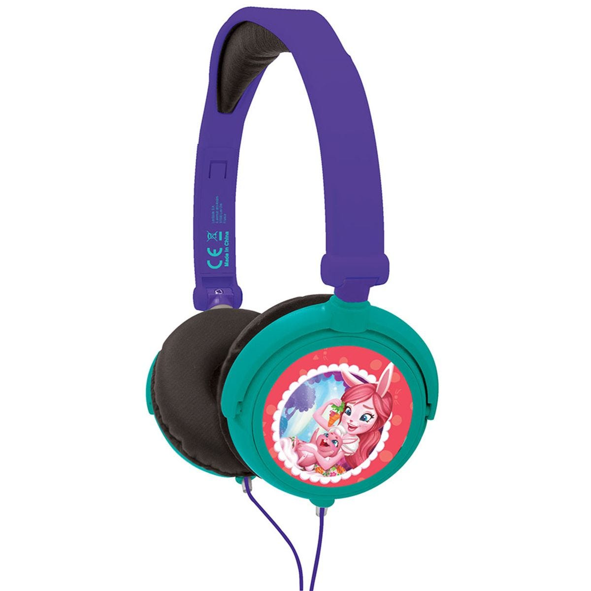 Lexibook Enchantimal Foldable Stereo Headphones with Volume Limiter
