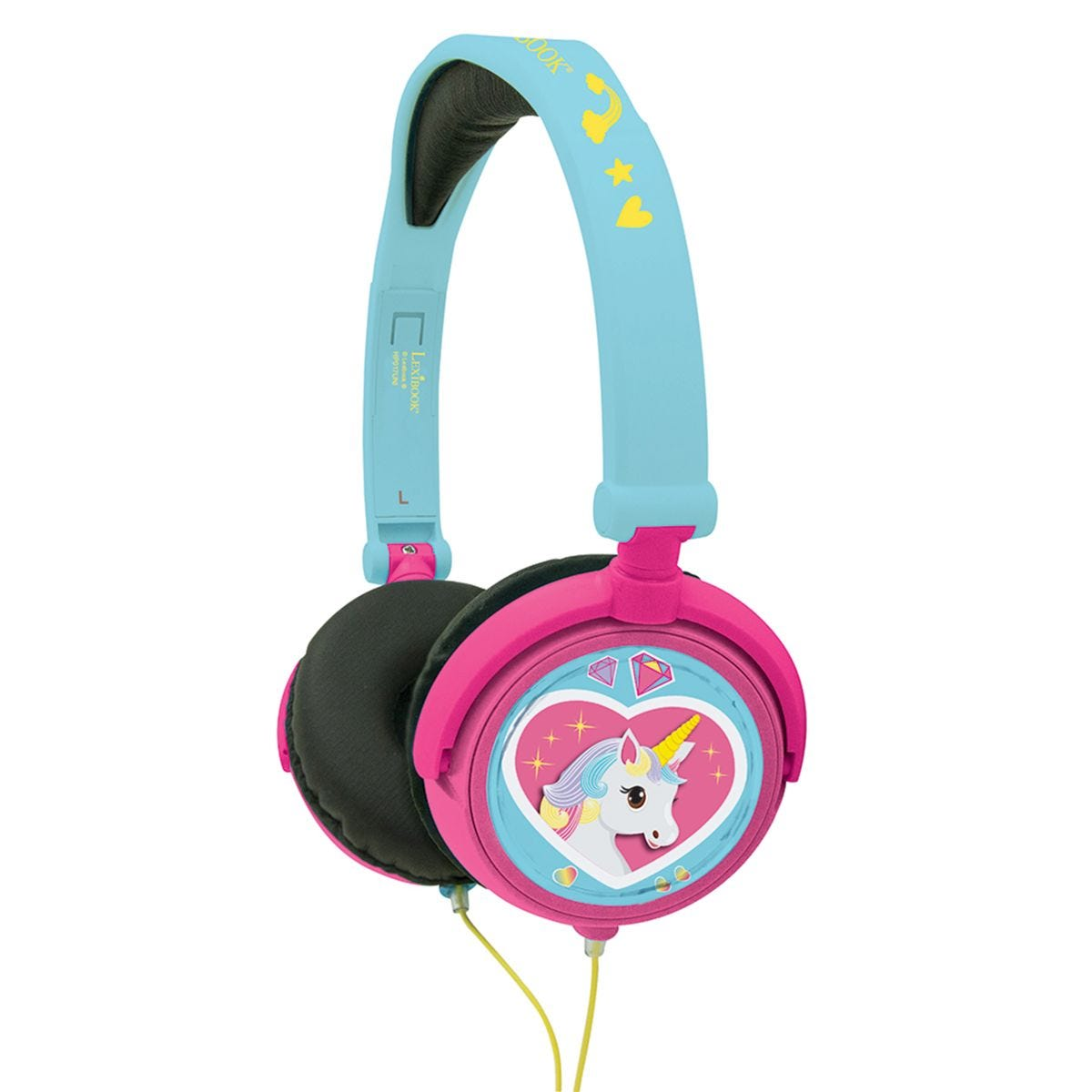 Lexibook Unicorn Foldable Stereo Headphones with Volume Limiter