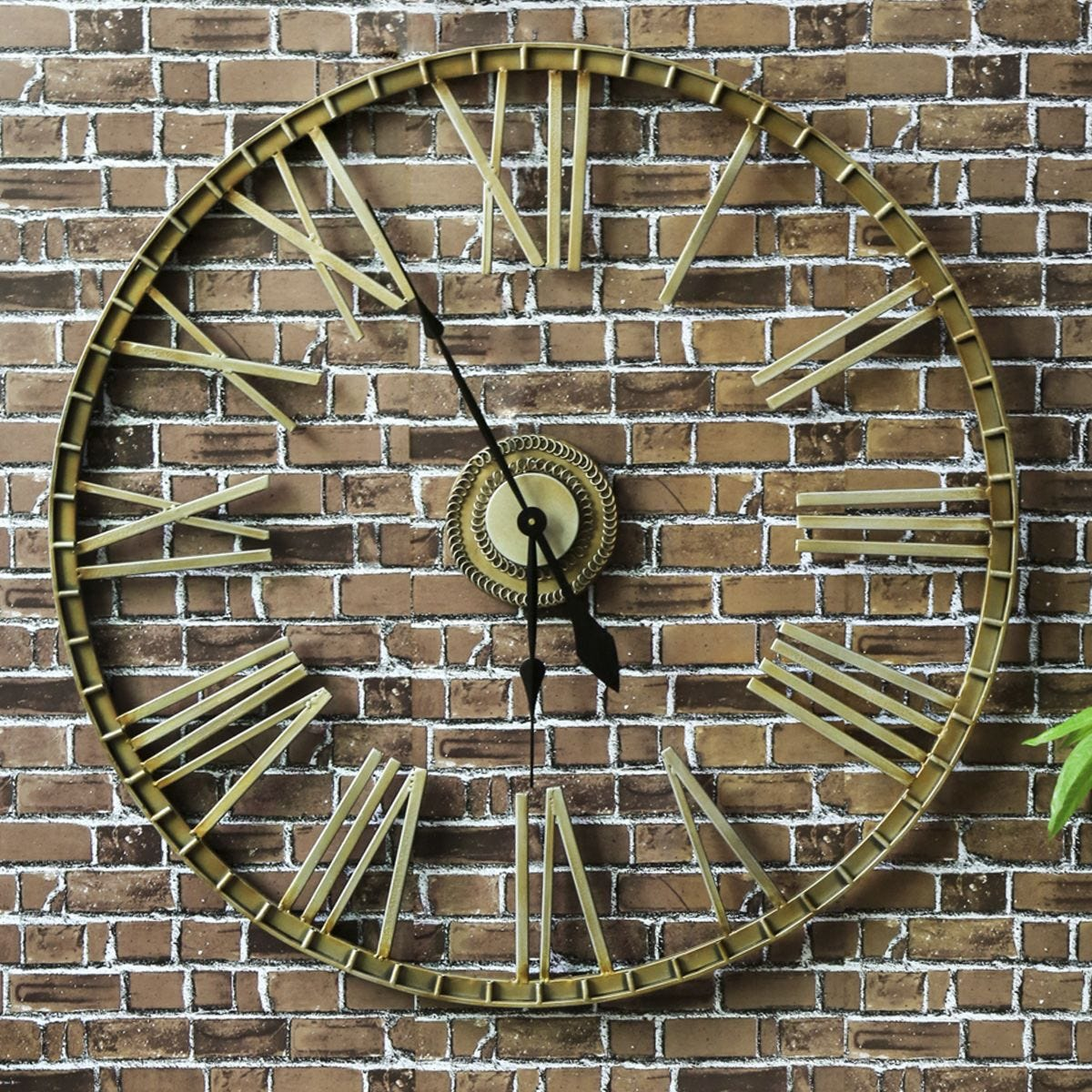 Charles Bentley Extra Large Outdoor Wall Clock - Bronze