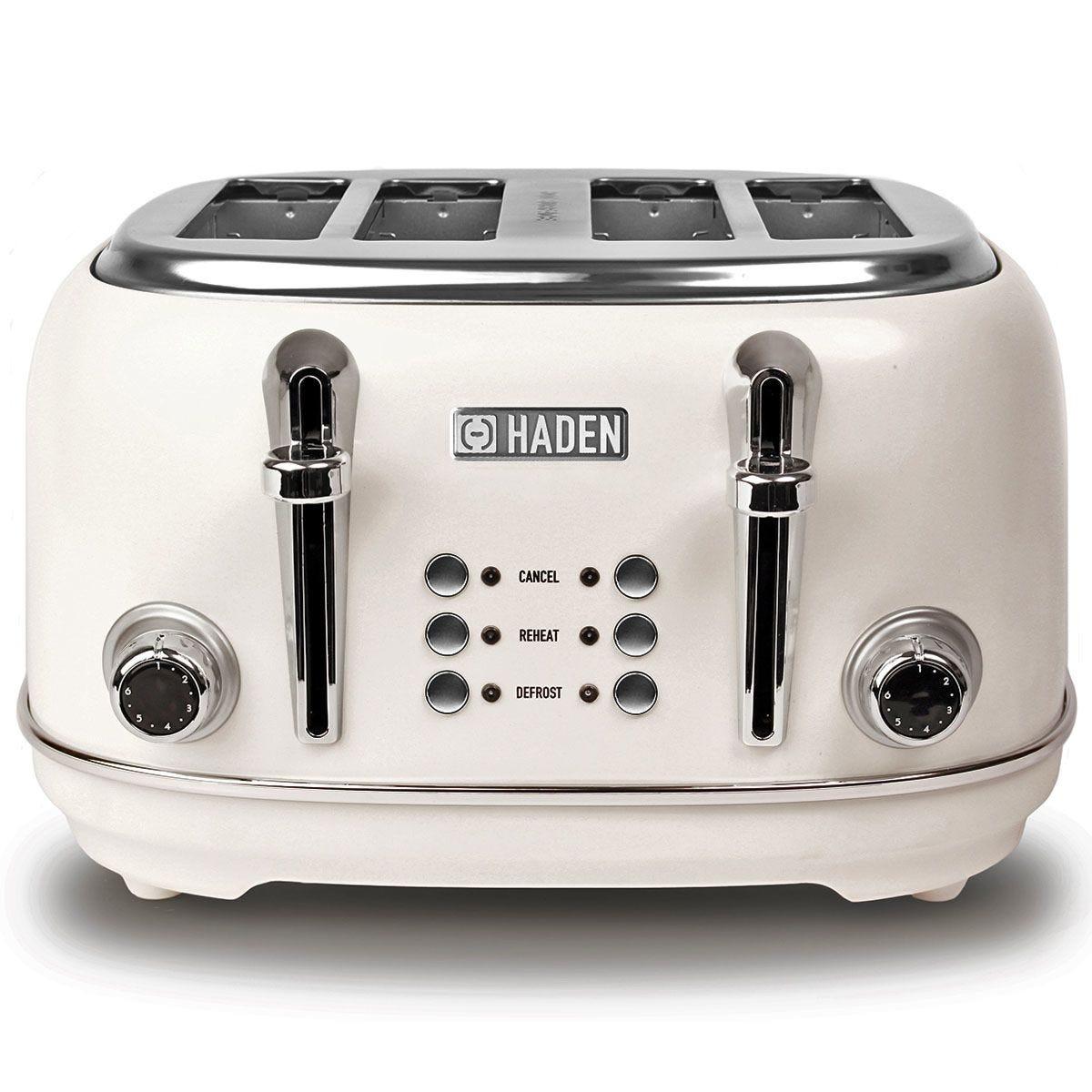 Haden 194220 Heritage 4-Slice Toaster - White