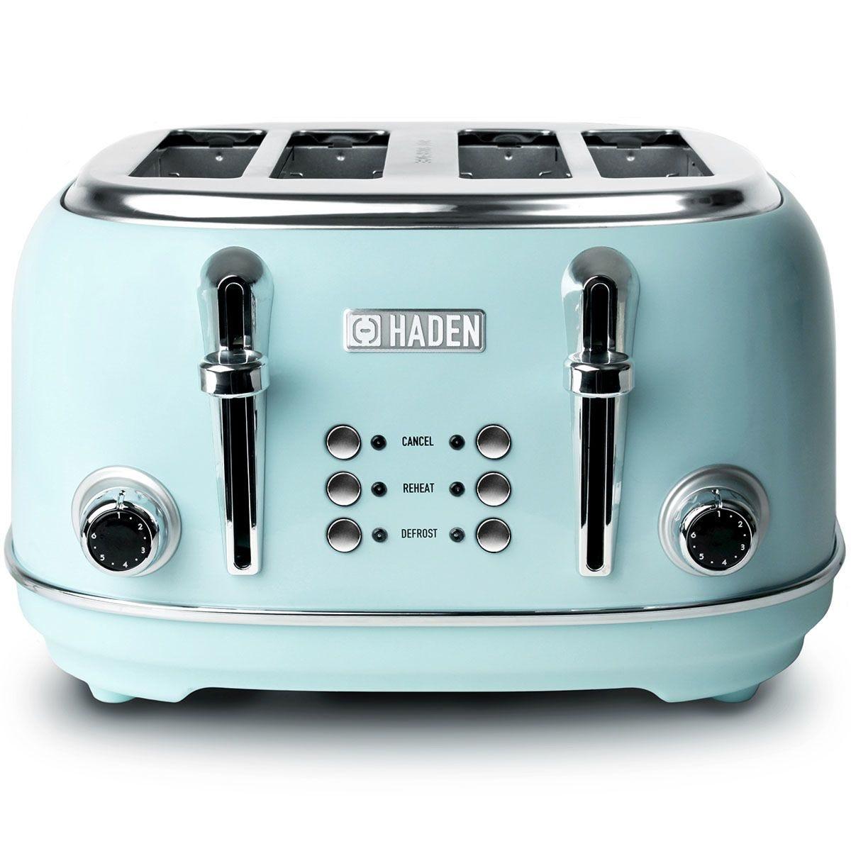 Haden 194244 Heritage 1630W  4–Slice Toaster – Turquoise
