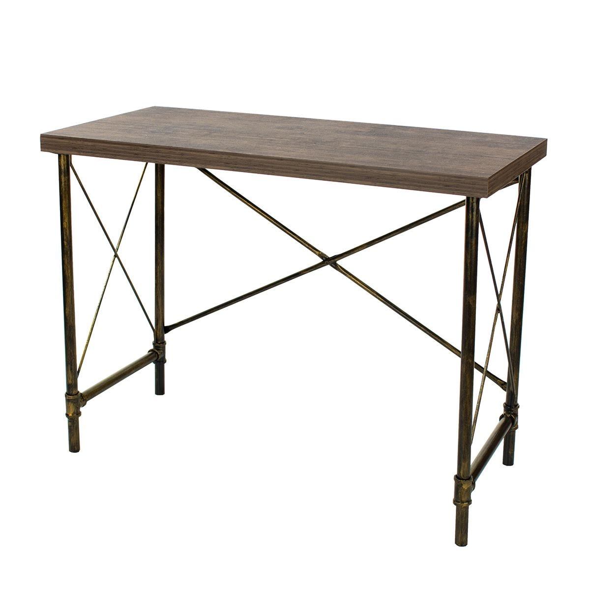 Gela Loft Home Study Desk with Pipe Design