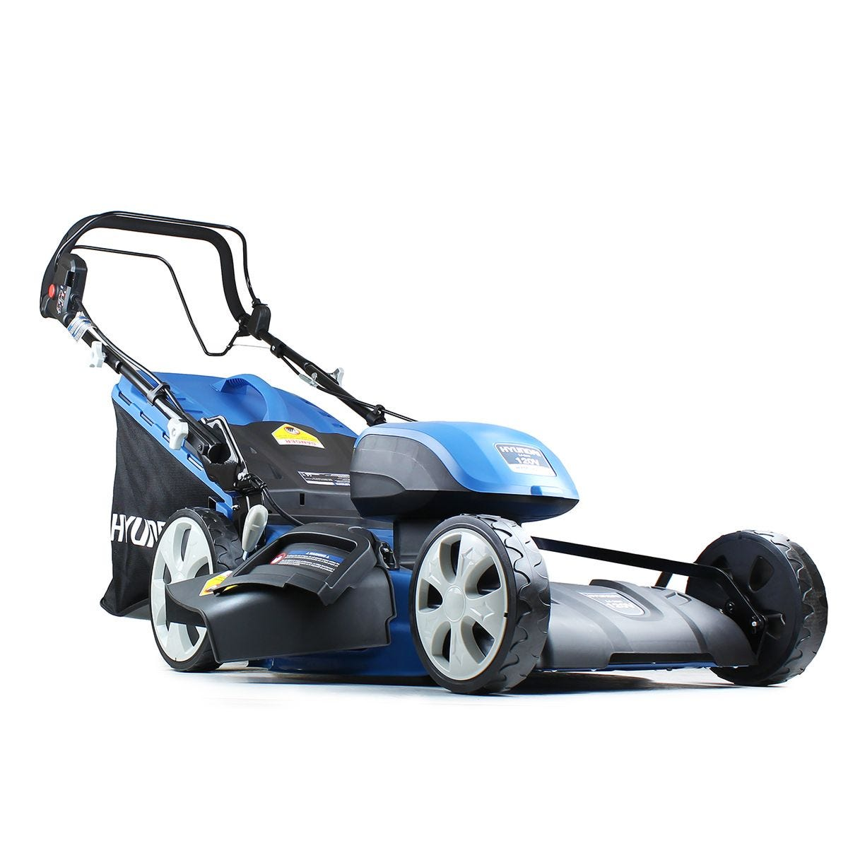 Hyundai HYM120Li510 Cordless Lawnmower Battery Powered Self Propelled 51cm Cutting Width with 120v Lithium-ion Battery and Charger