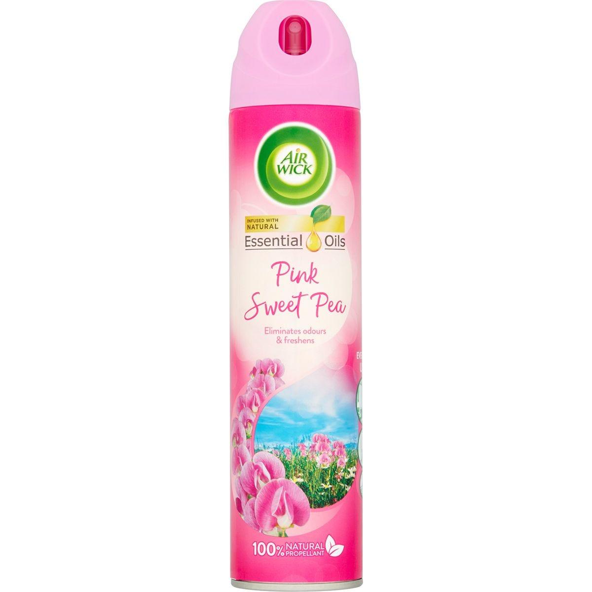 Airwick Air Freshener Pink Sweet Pea Aerosol - 240ml