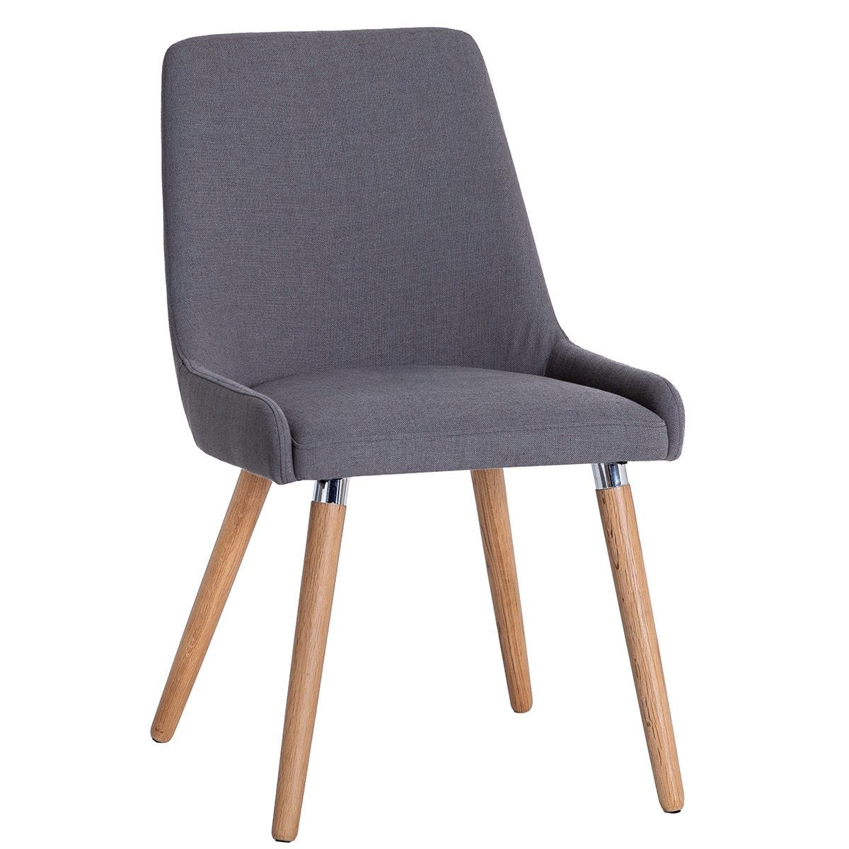 Retro Dining Chairs 2 Pack - Grey