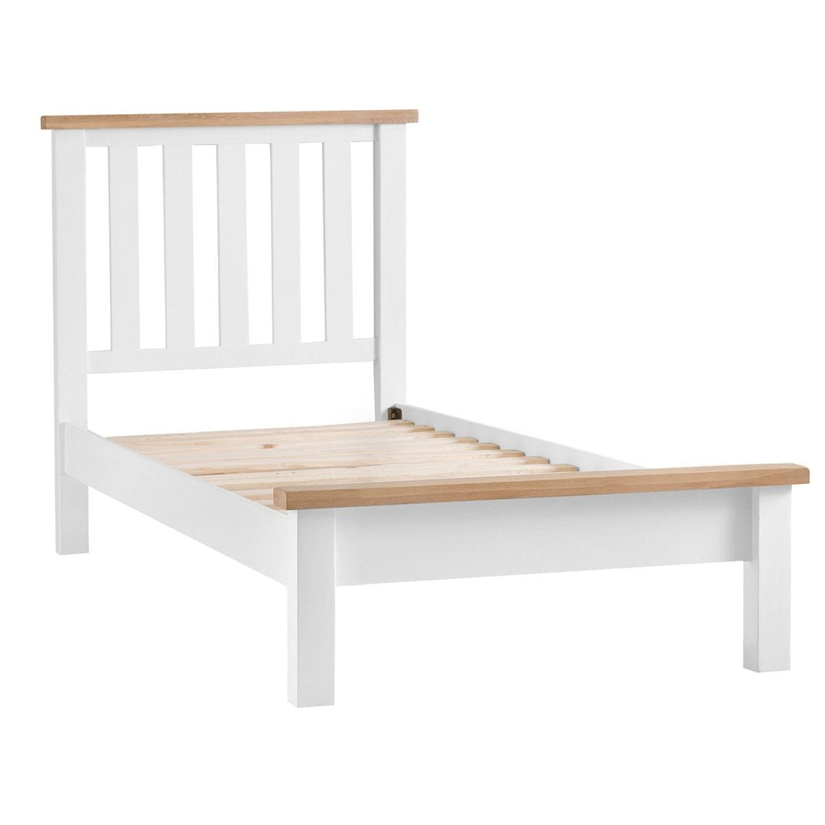 Madera Single Bed Frame - White