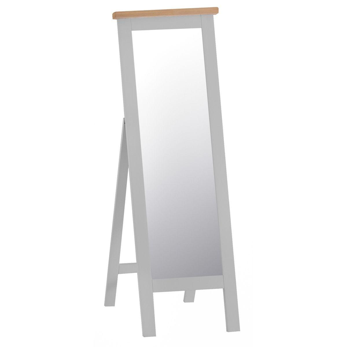 Madera Cheval Mirror - Grey