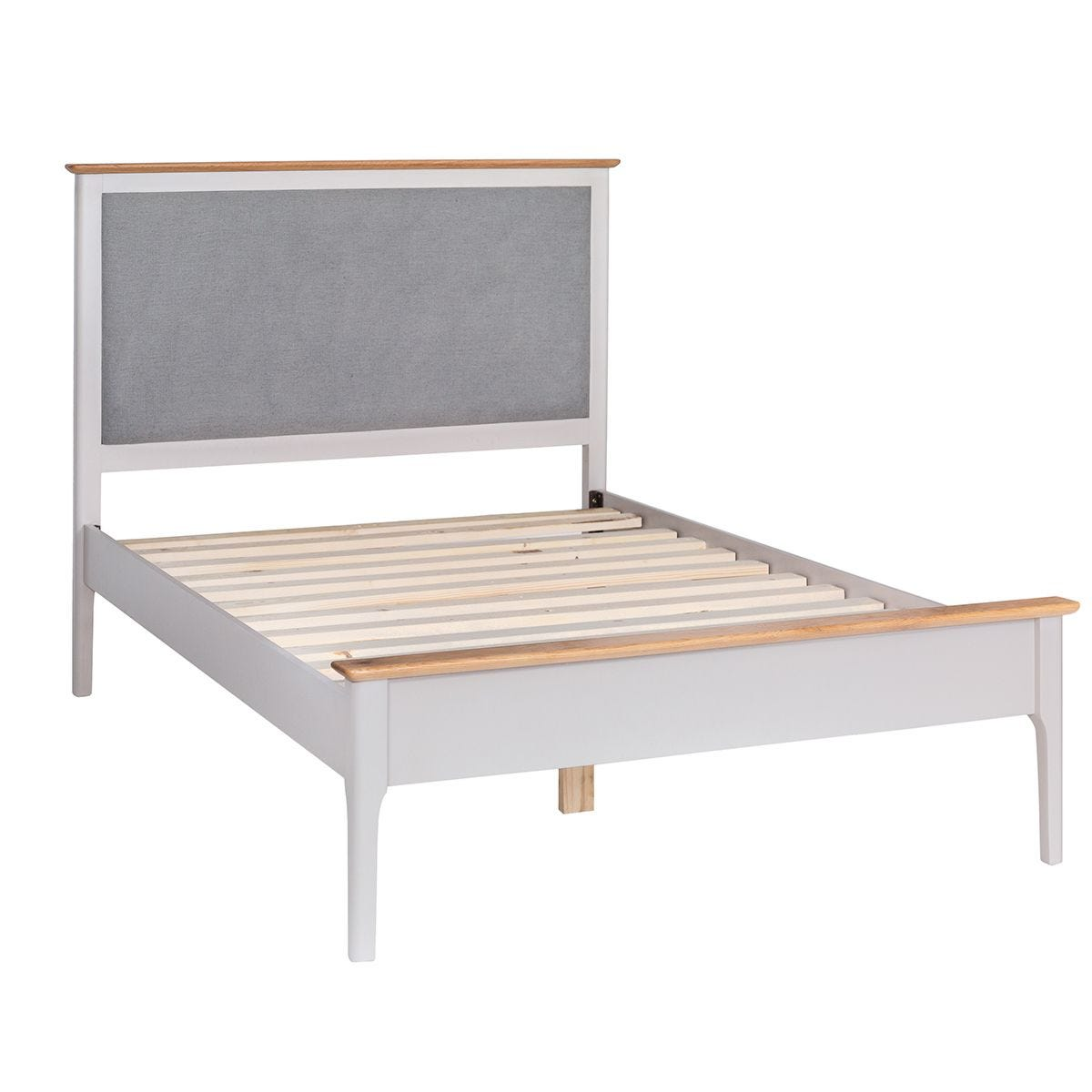 Notswood Single Bed Frame With Fabric Headboard