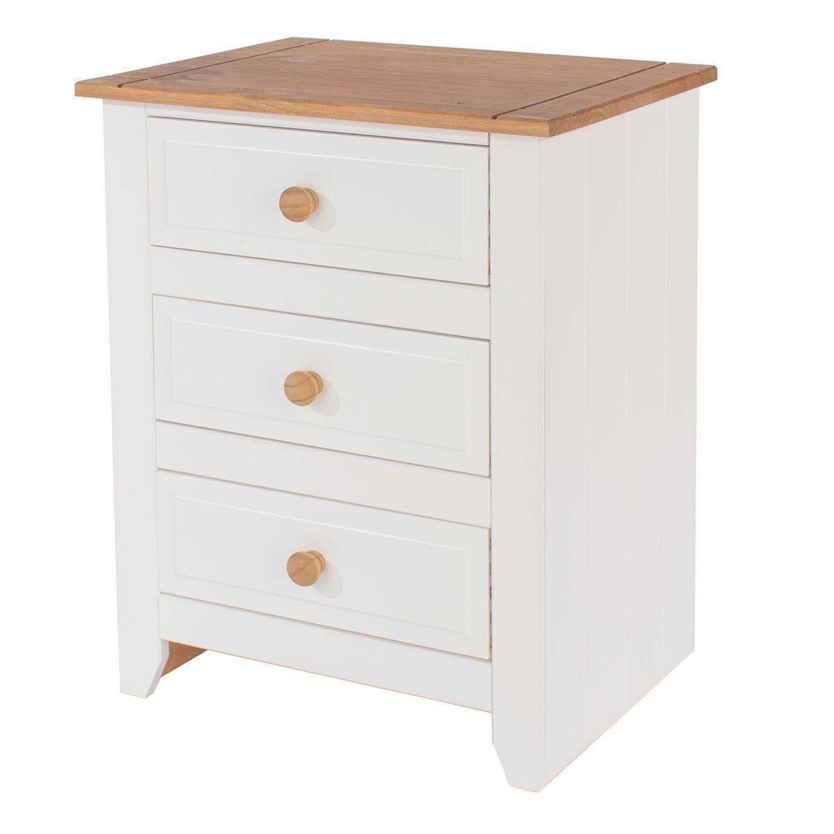 Felka 3 Drawer Bedside Cabinet