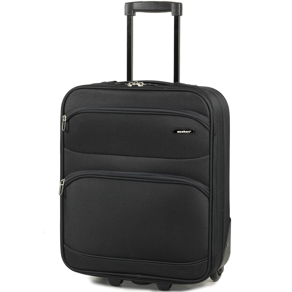 Members Topaz 55cm Carry-on Lightweight Two Wheel Trolley Suitcase - Black
