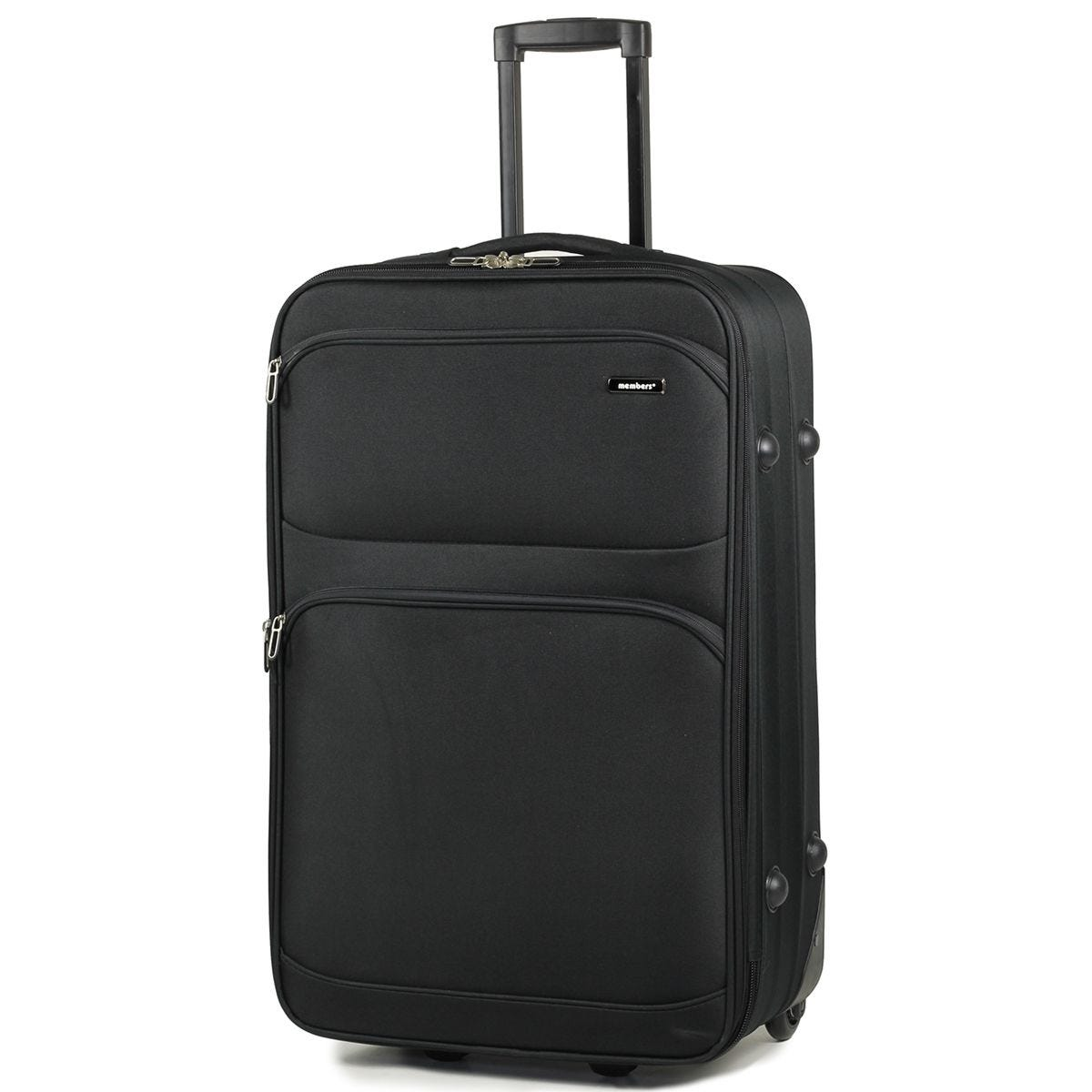 Members Topaz 65cm Lightweight Expandable Two Wheel Trolley Suitcase - Black