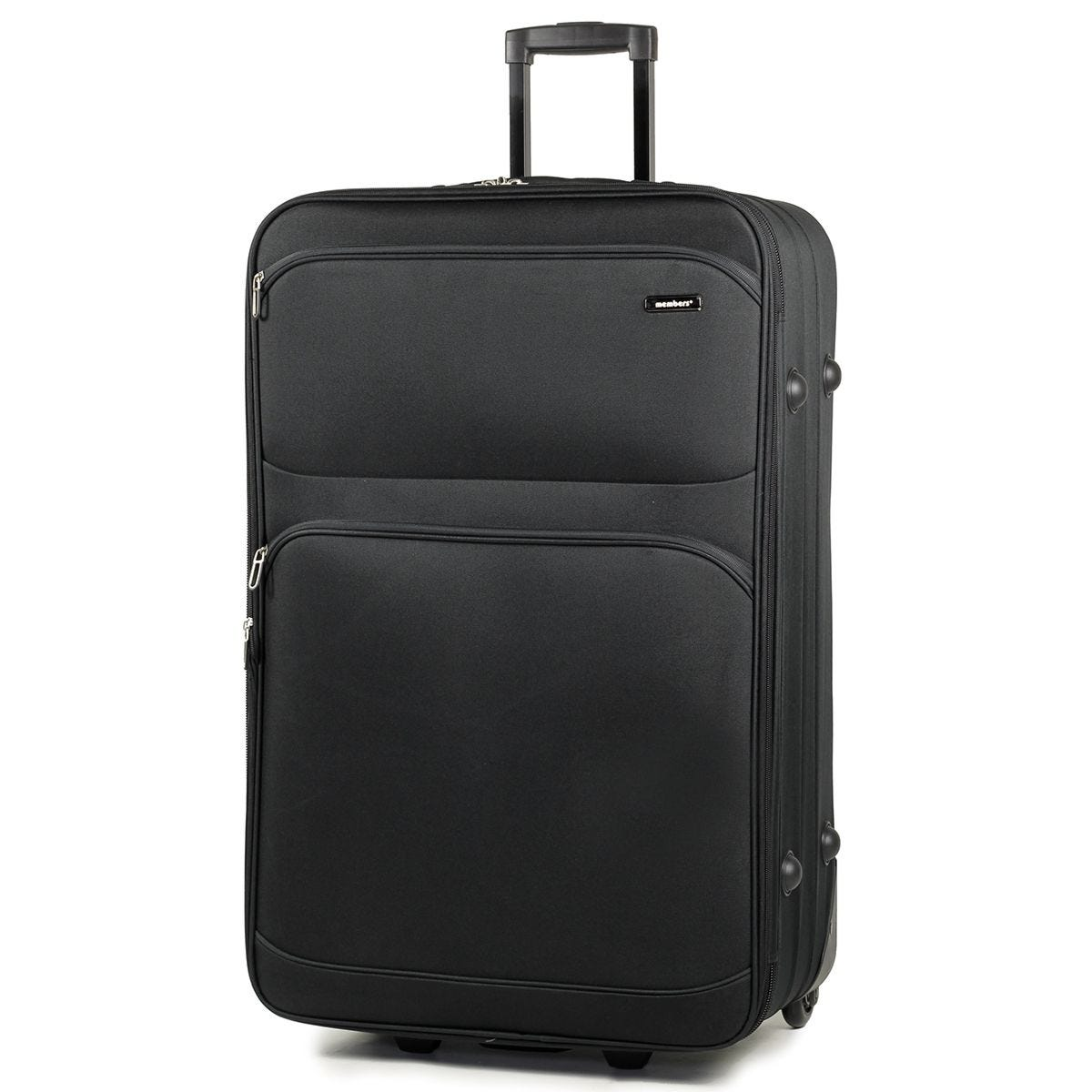 Members Topaz 75cm Lightweight Expandable Two Wheel Trolley Suitcase - Black