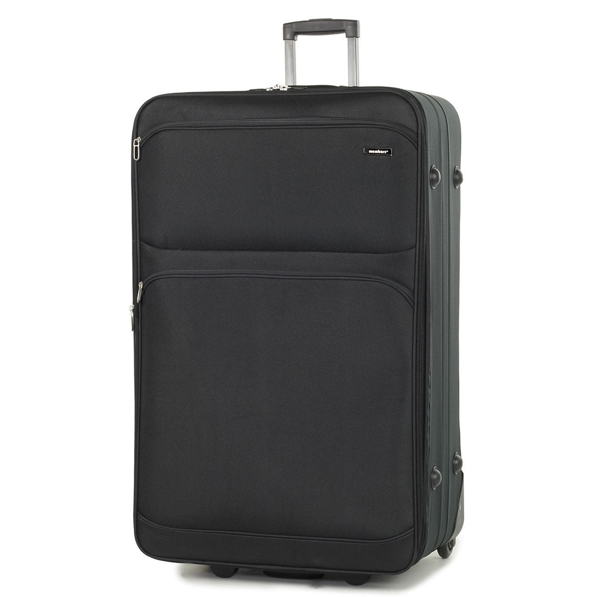 Members Topaz 85cm Lightweight Expandable Two Wheel Trolley Suitcase - Black