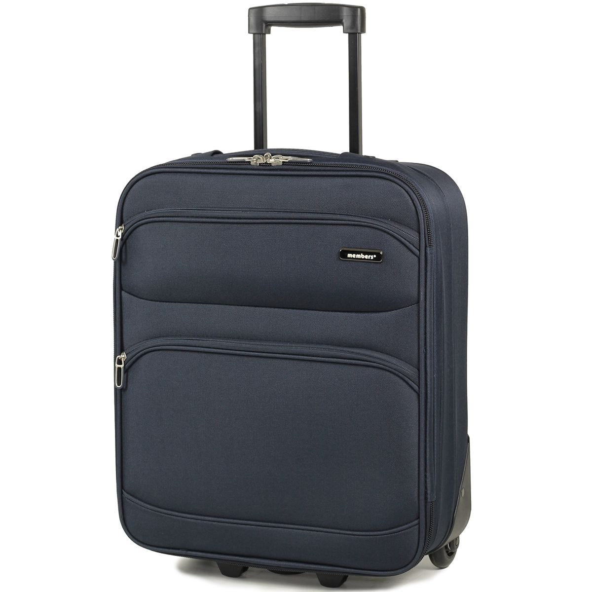 Members Topaz 55cm Carry-on Lightweight Two Wheel Trolley Suitcase - Navy