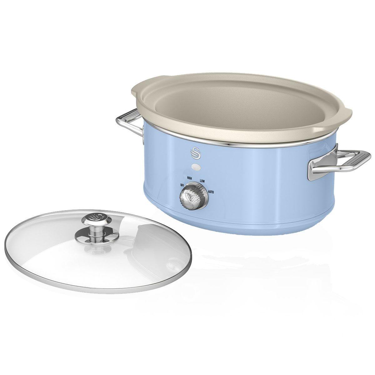 Swan SF17031BLN 6.5L Slow Cooker Retro - Blue
