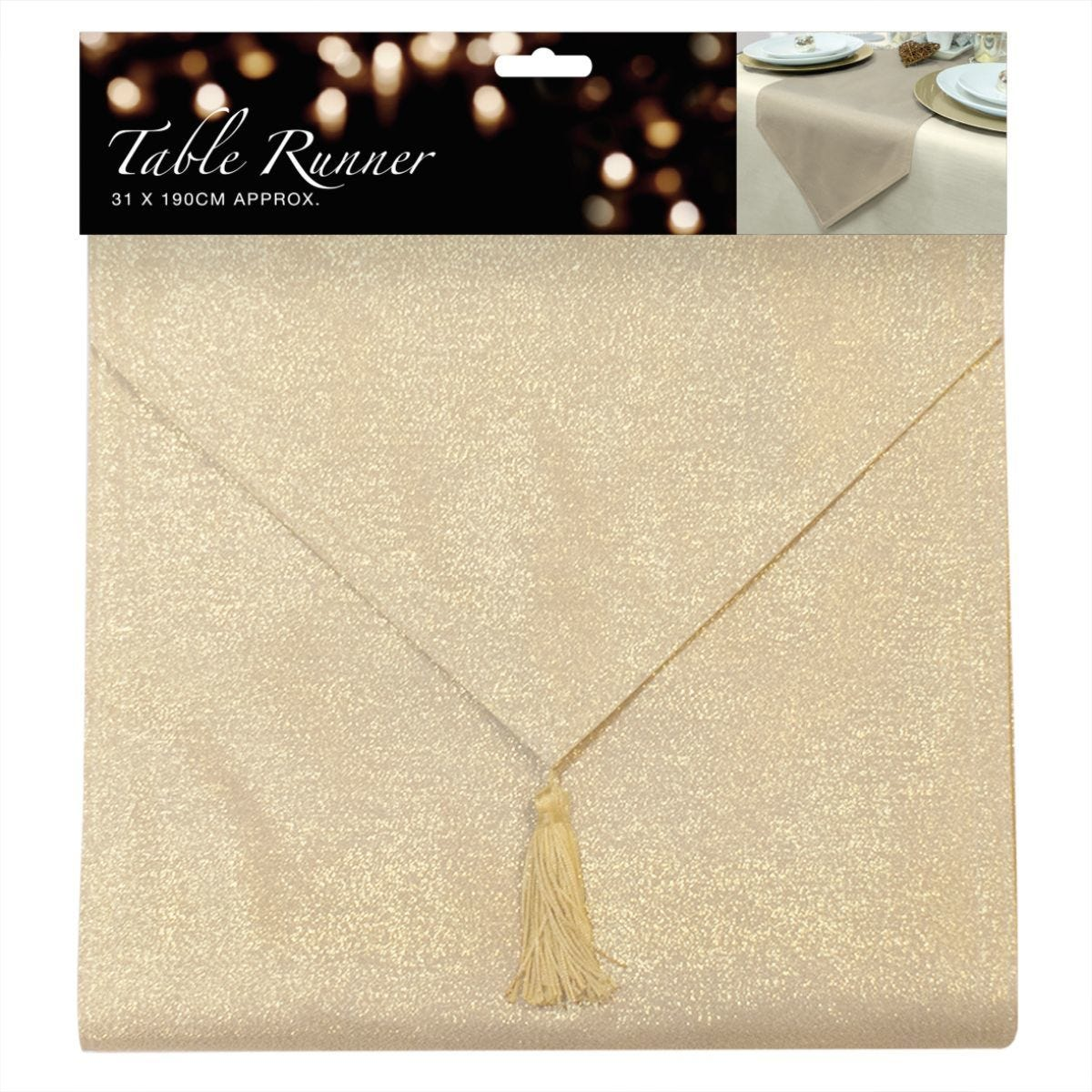 Glitter Table Runner - Gold