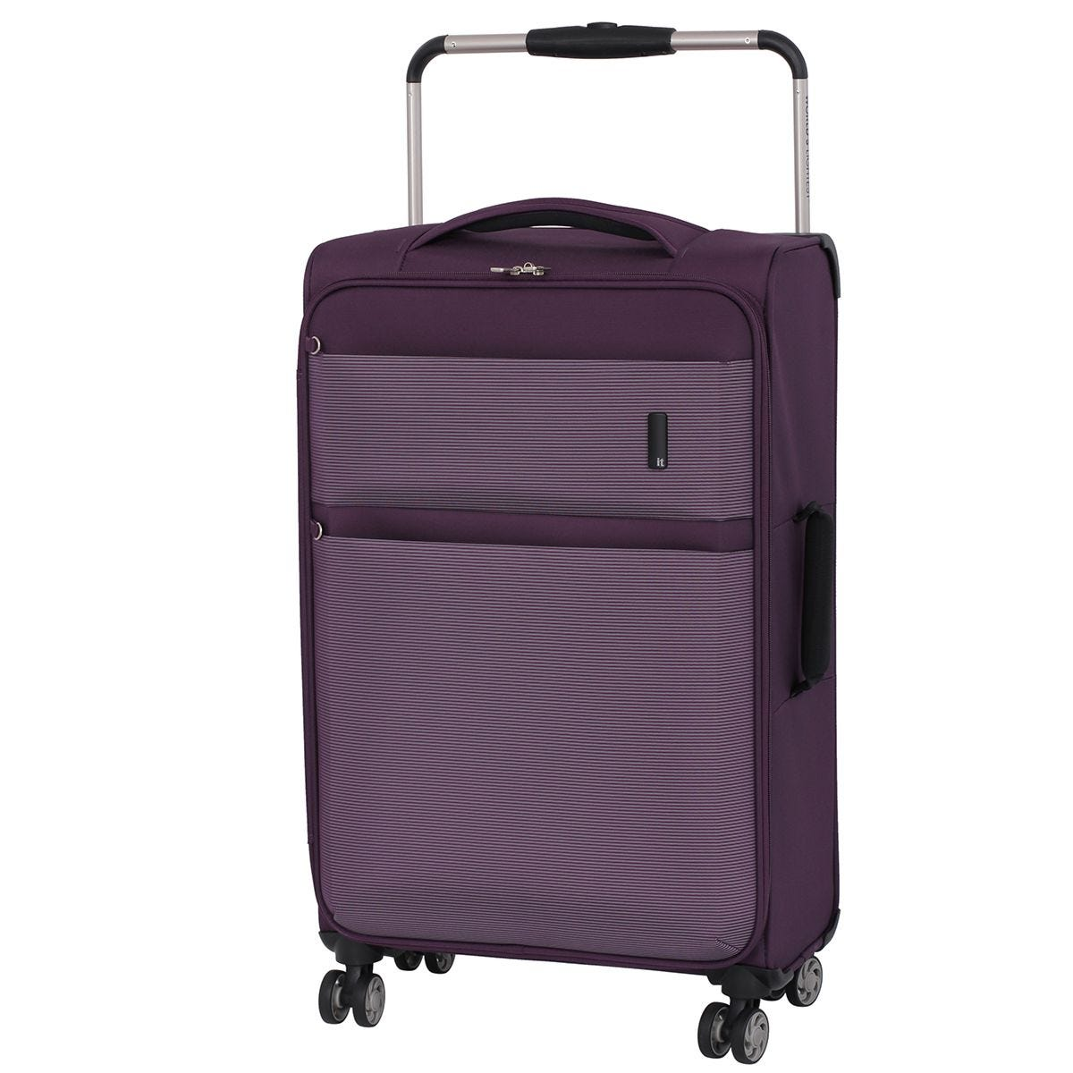 It Luggage Debonair World's Lightest Wide Handled Design 8-Wheel Medium Case - Purple/White