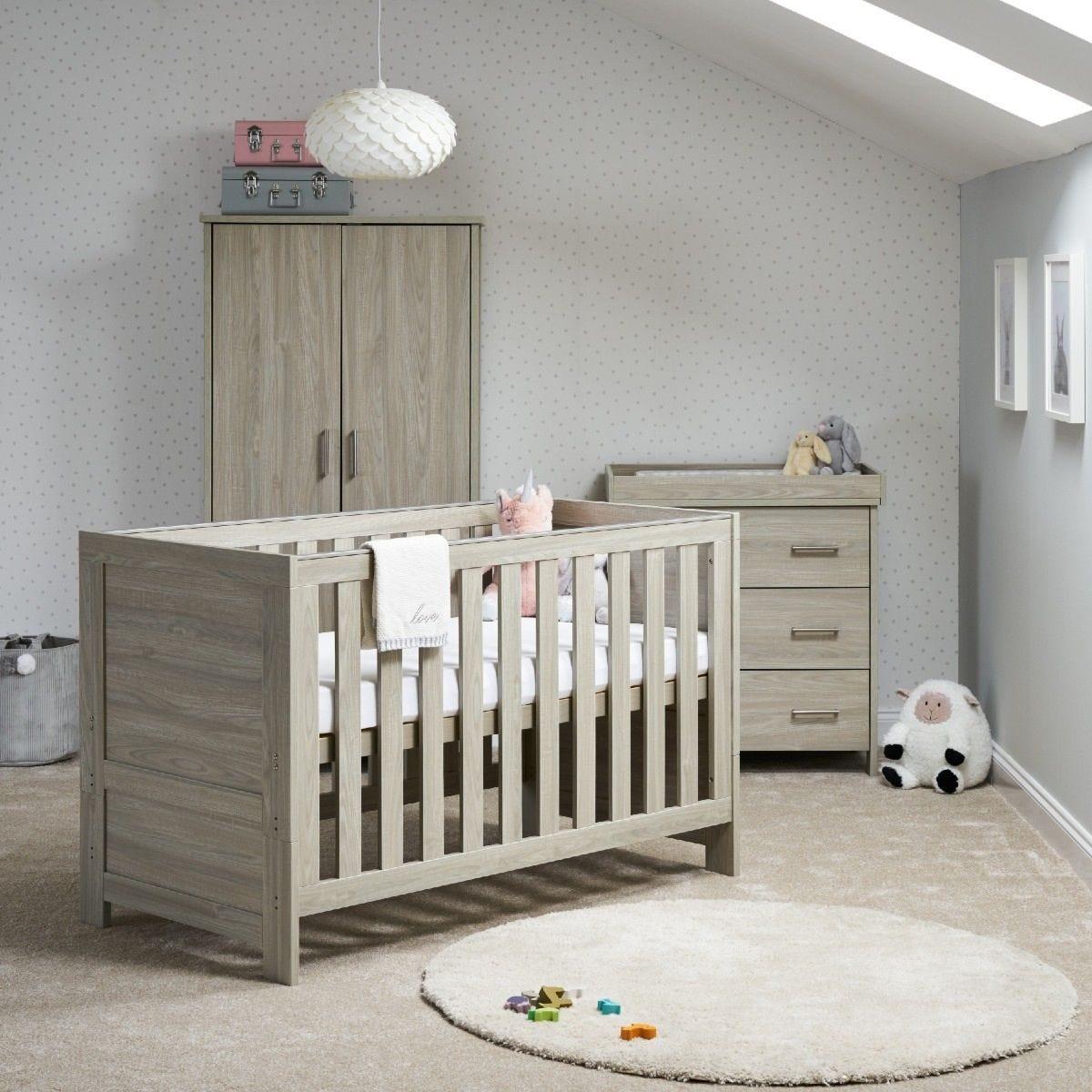 OBaby Nika 3 Piece Room Set Grey Wash