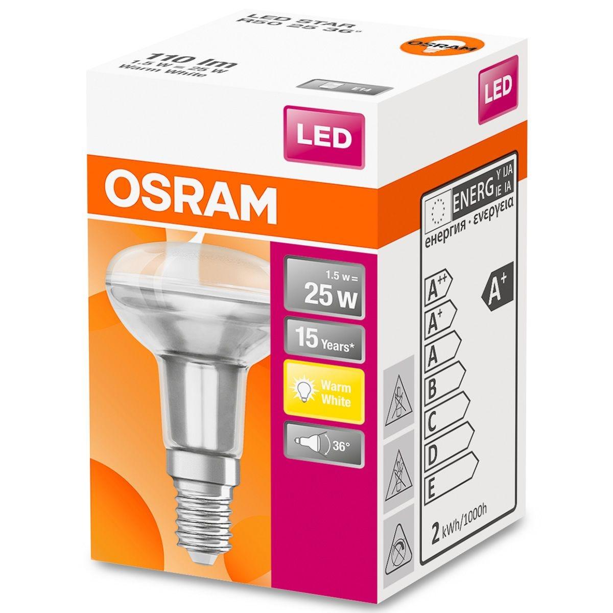 Osram Reflector R50 25W SES Bulb - Warm White