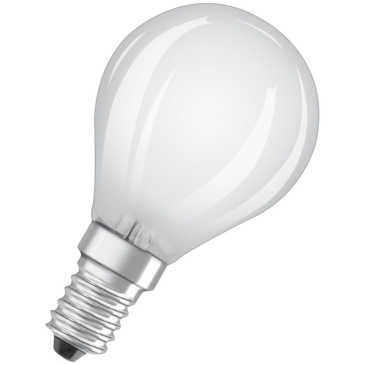Osram Frosted 40W Equivalent LED Golf Ball SES Bulbs, Warm White - 3 Pack
