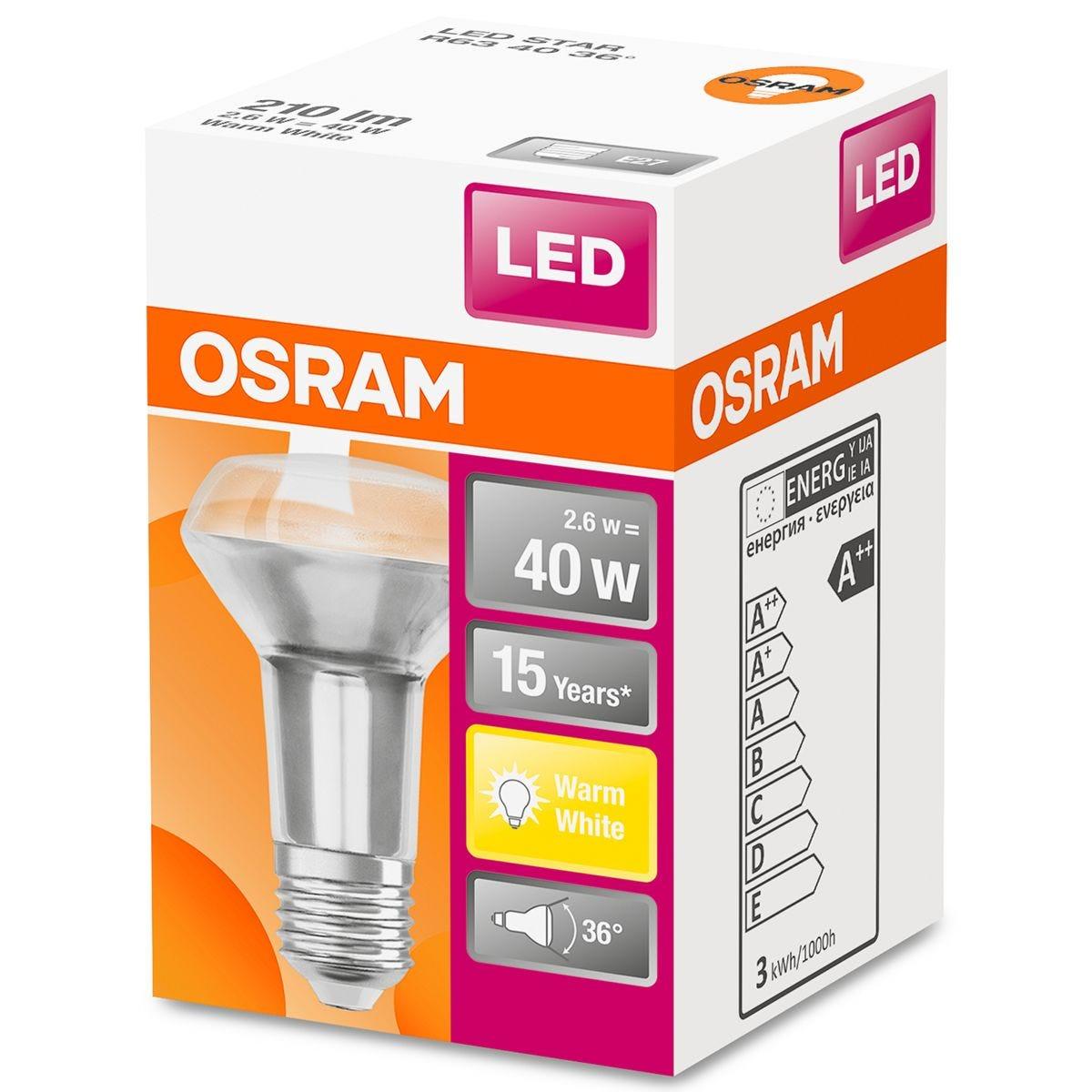 Osram R63 LED Star 40W ES Bulb - Warm White