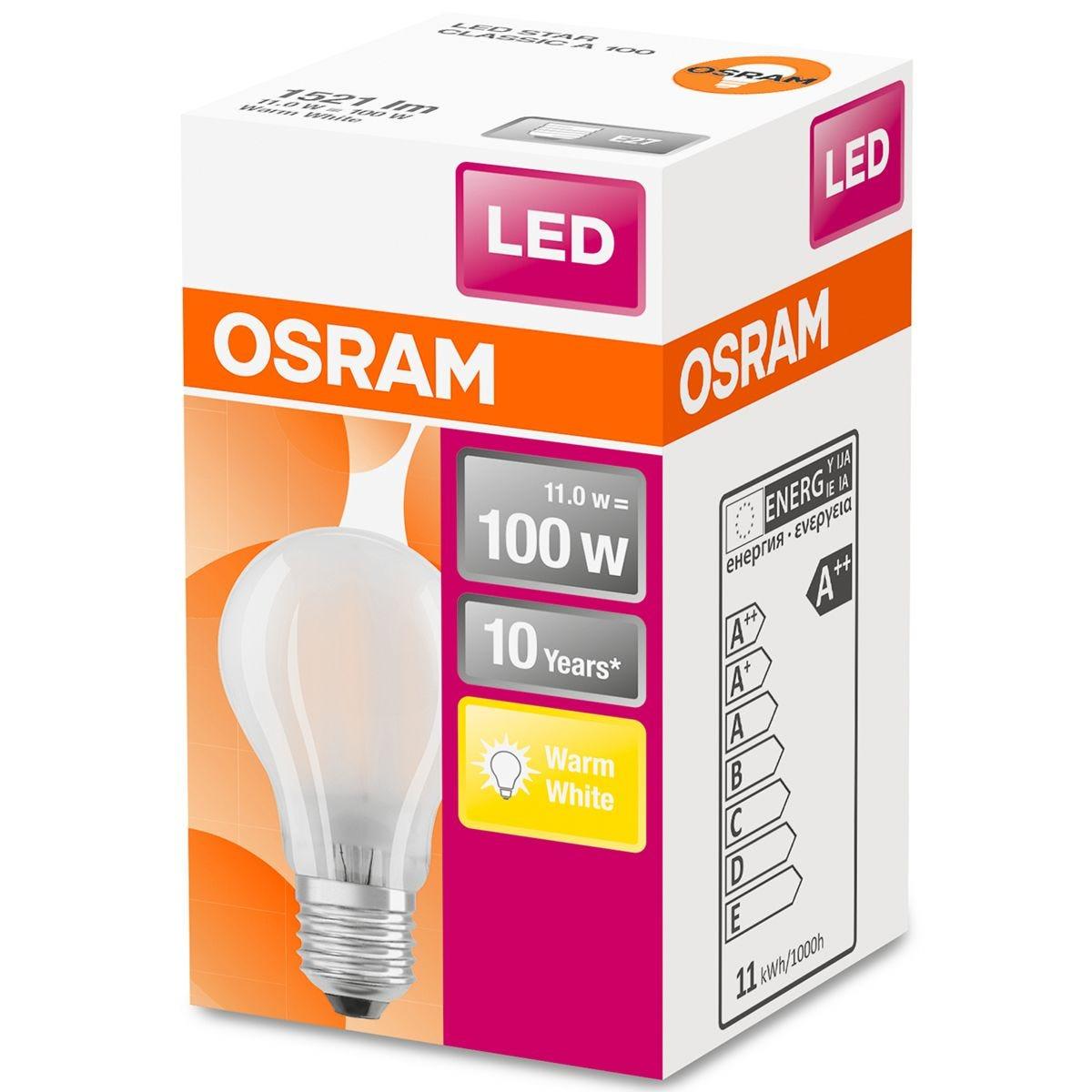 Osram Classic A 100W LED Filament Frosted ES Bulb