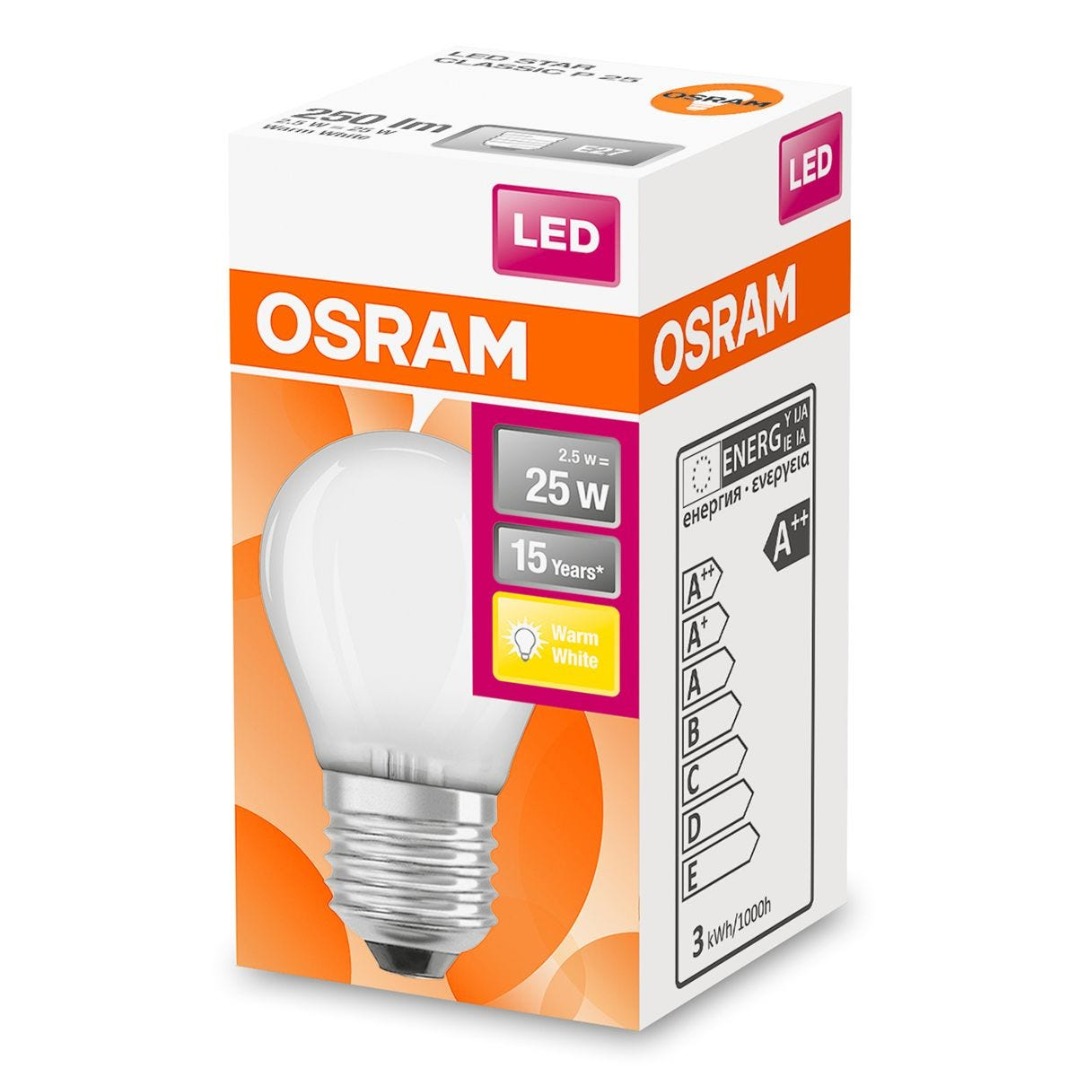 Osram Globe 25W LED Filament Frosted ES Bulb