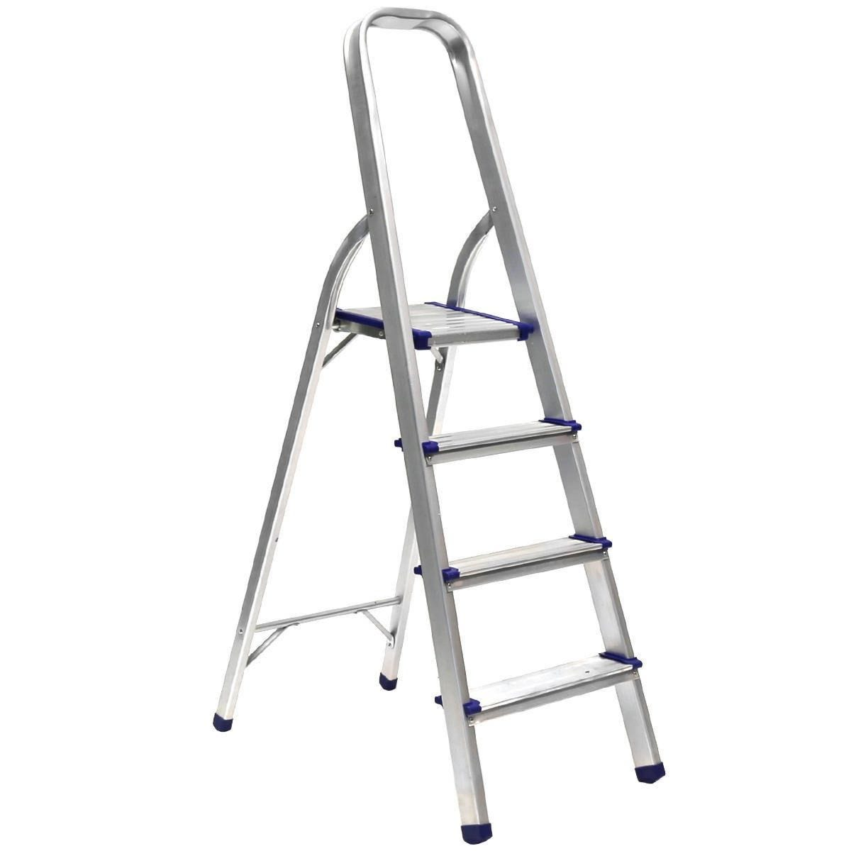 Charles Bentley 4 Step Tread Lightweight Foldable Step Ladder