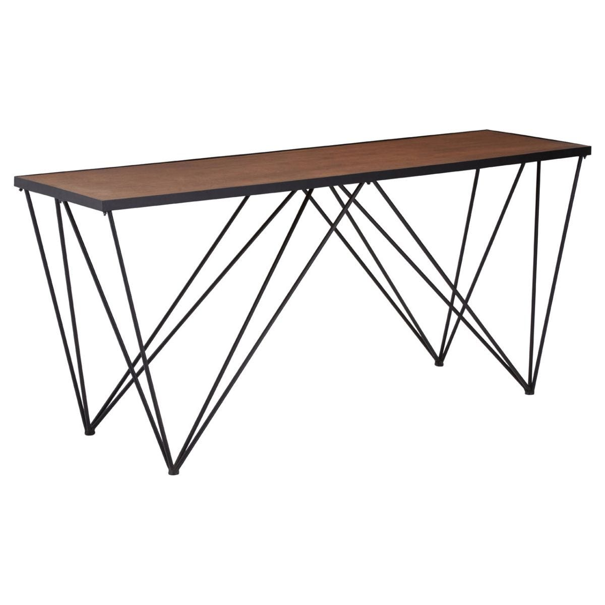 New Foundry Rectangular Fir Wood Console Table