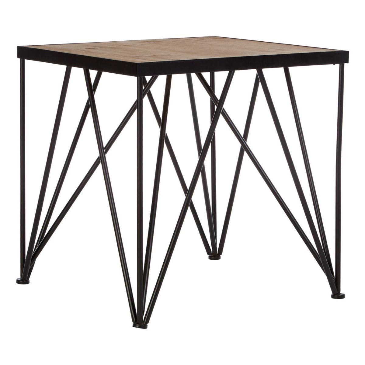 New Foundry Square Side Table Fir Wood