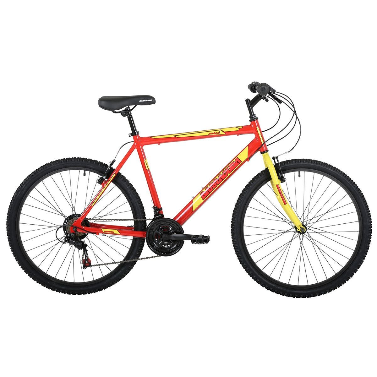 Barracuda Draco 1 26 Inch Wheel 18 Speed Mountain Bike - Red/Yellow