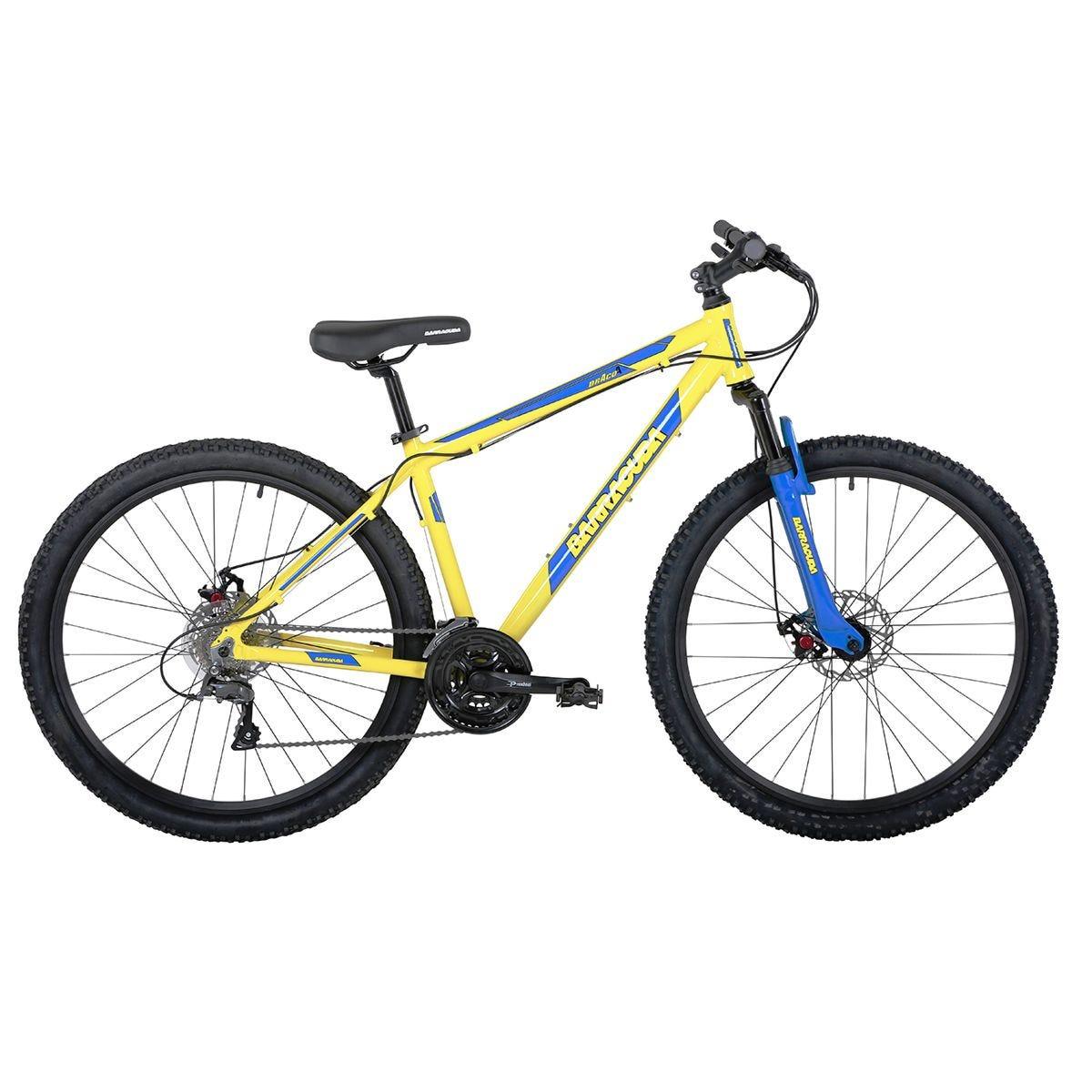 Barracuda Draco 4 Frame 27.5 Inch Wheel 24 Speed Disc Brake Mountain Bike - Yellow/Blue