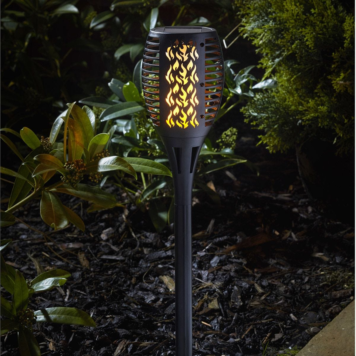Smart Solar Cool Flame Light