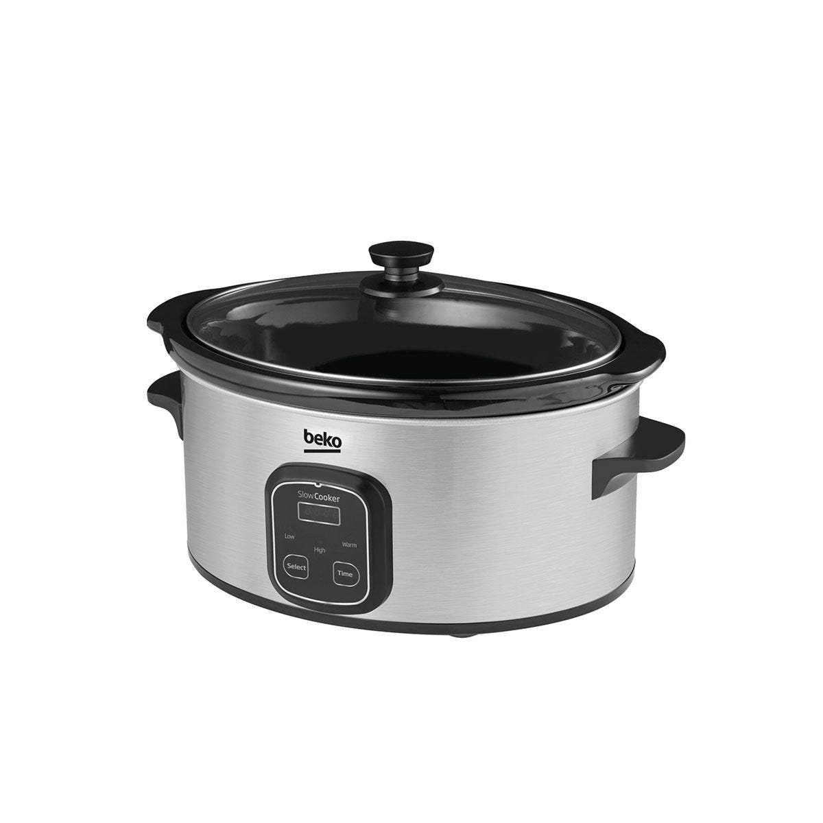 Beko SCM3622X 6L Stainless Steel Slow Cooker - Silver
