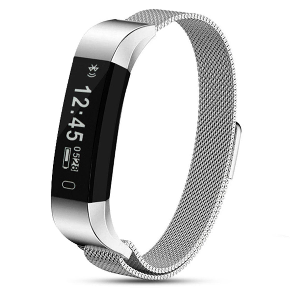 Aquarius AQ115HR Signature Edition Fitness Tracker With Heart Rate Monitor - Metal Strap Silver