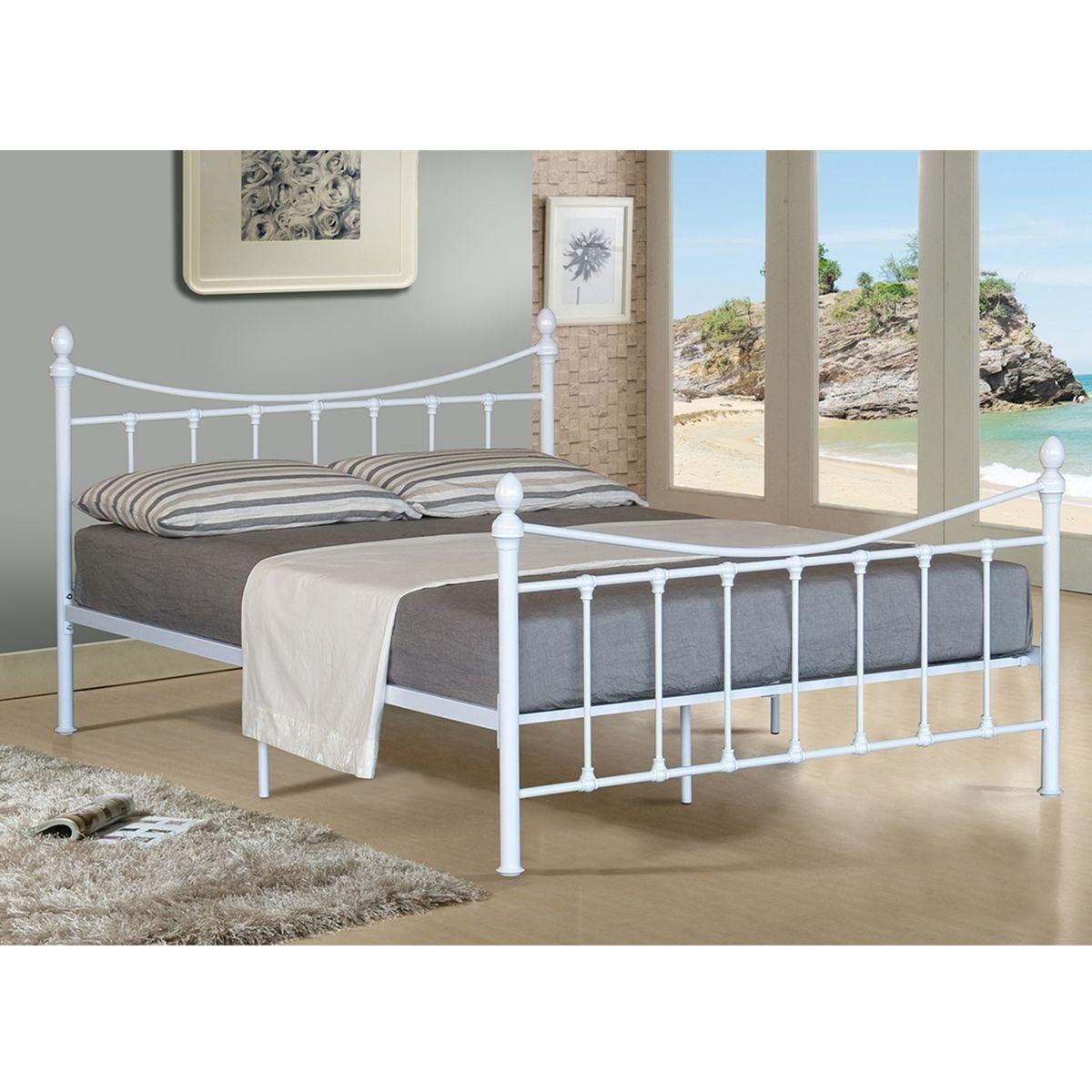 Olivia Metal Bed Frame - White