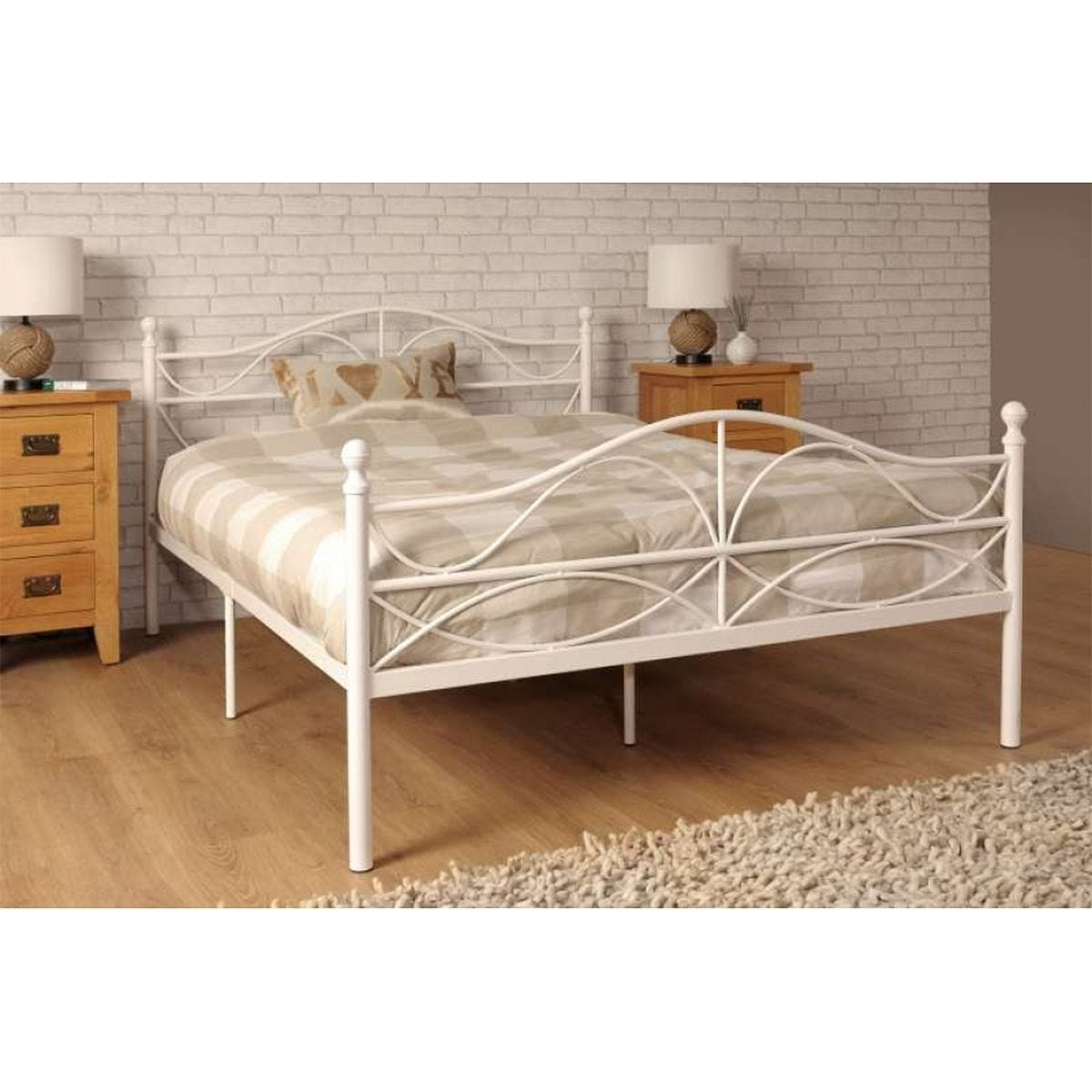 Willow Double Bed Frame - White