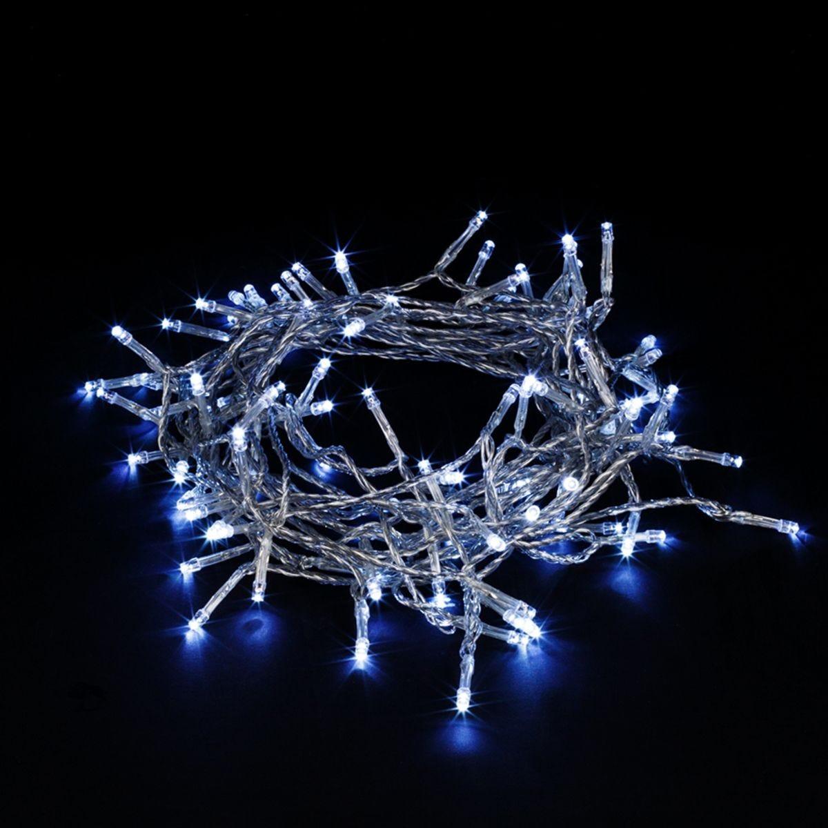 Robert Dyas 800 Transparent String Lights - Ice White