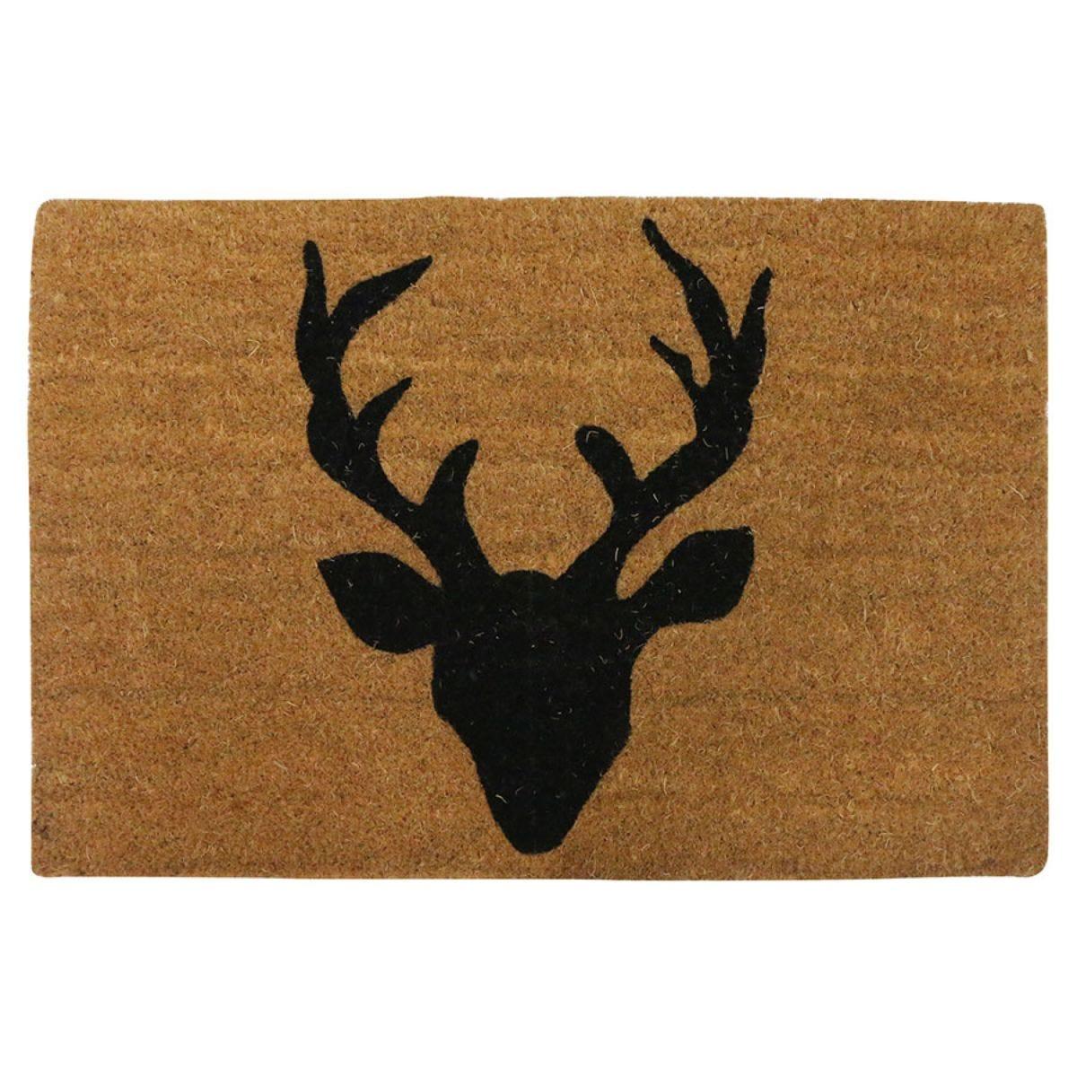 Home Essentials Deer Welcome Coir Doormat - Natural