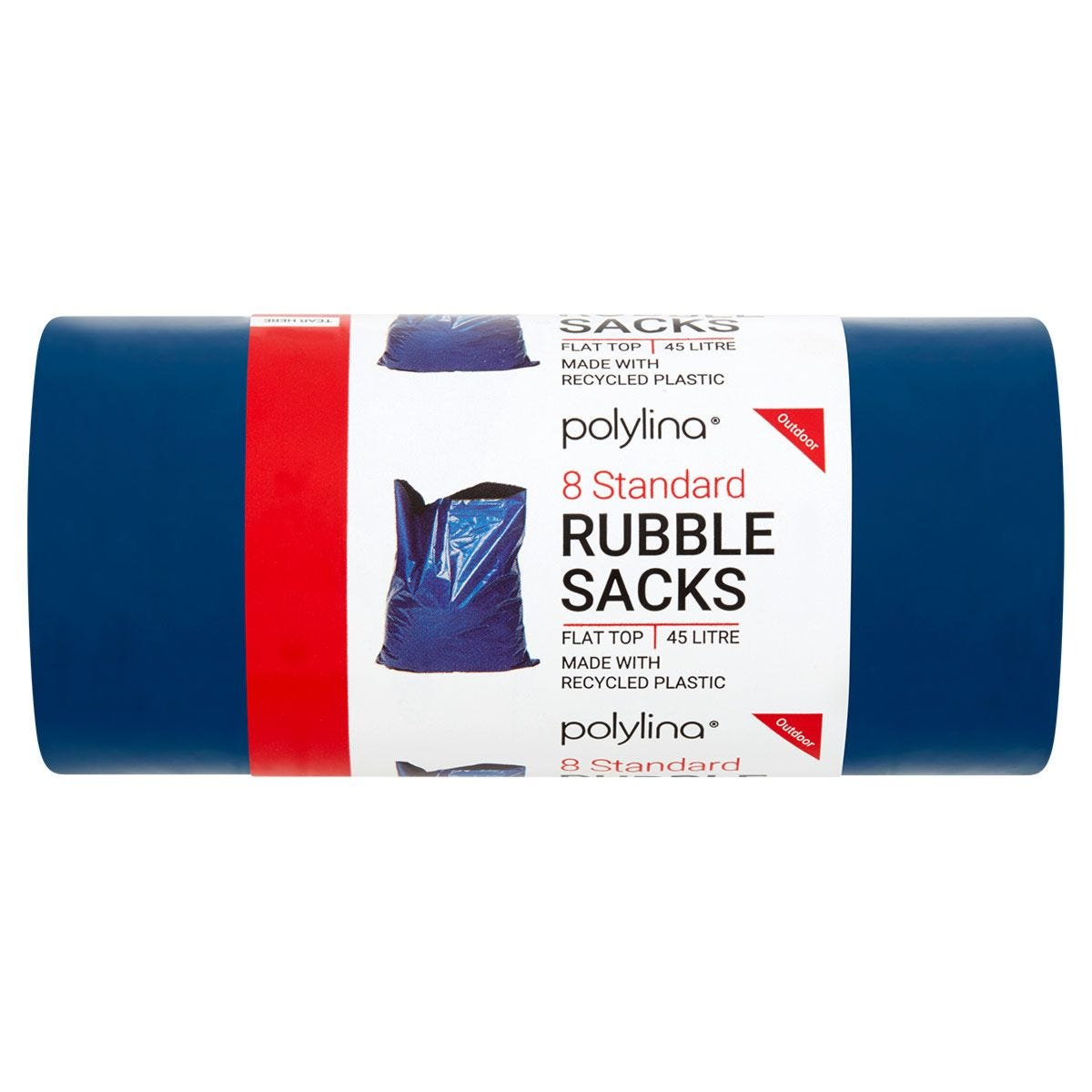 Polylina Large Heavy Duty Rubble Sacks - Pack of 8