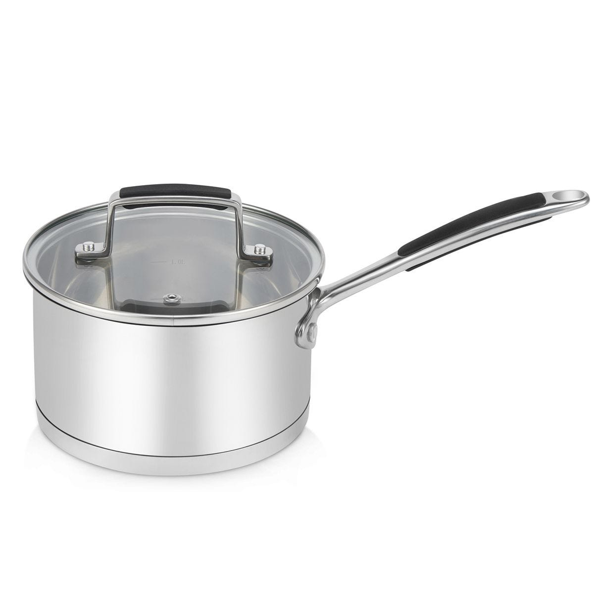 Robert Dyas Stainless Steel Saucepan with Lid - 18cm