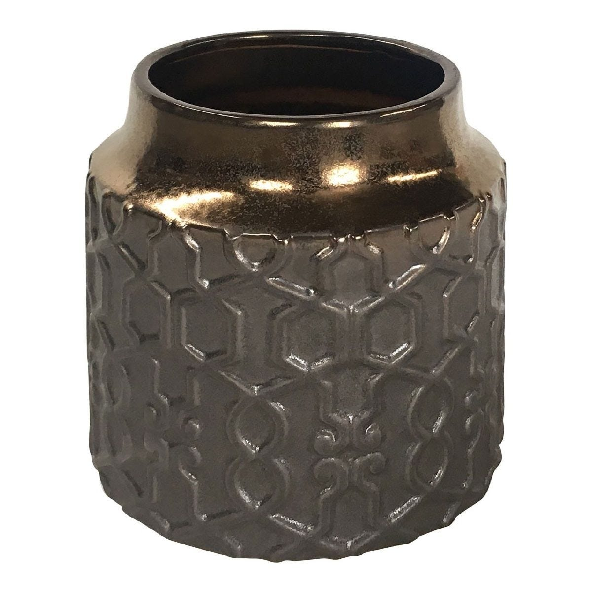Premier Housewares Zircon Ceramic Planter Metallic - Large