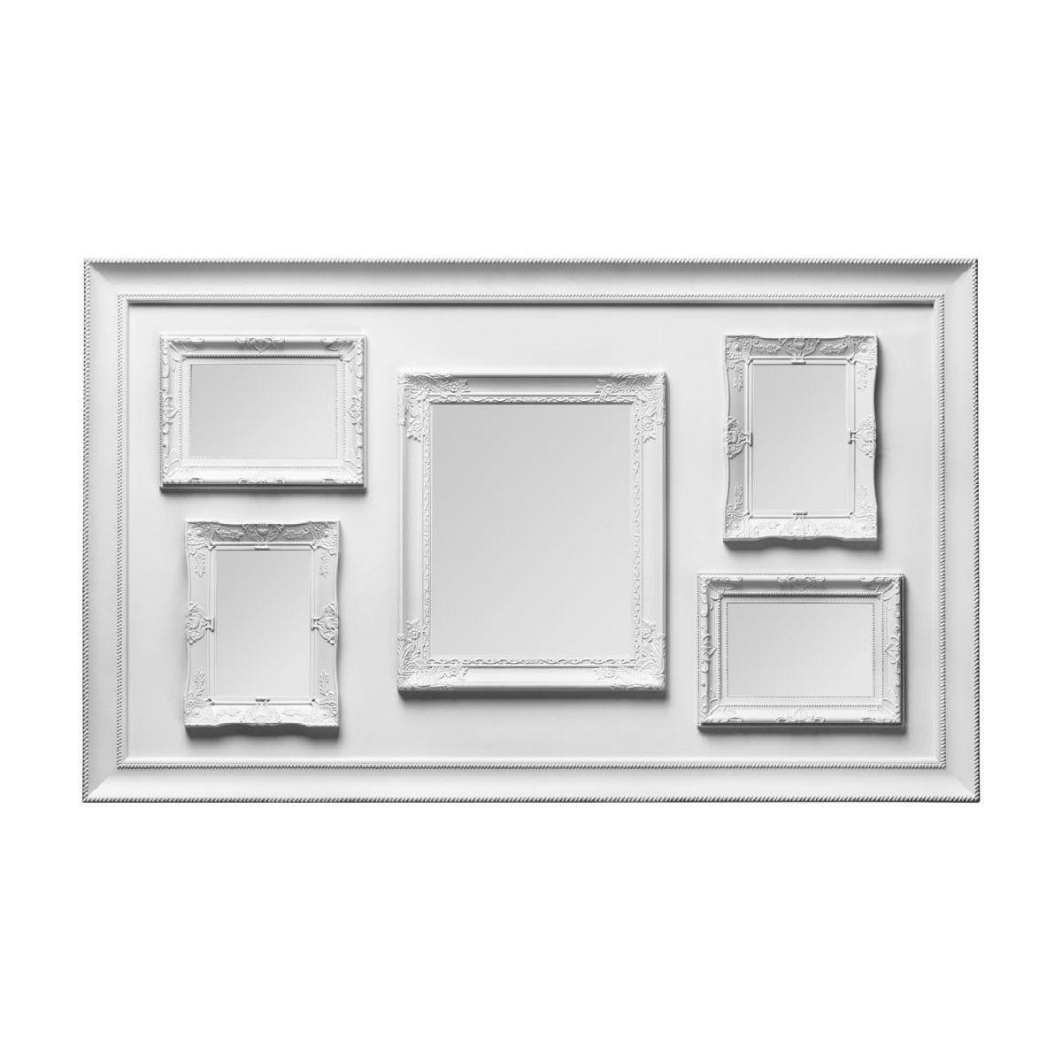 Premier Housewares Multi Photo Frame, 5 Photo White Plastic Frame - 1 Rectangular 8x10, 4 Rectangular 4x6
