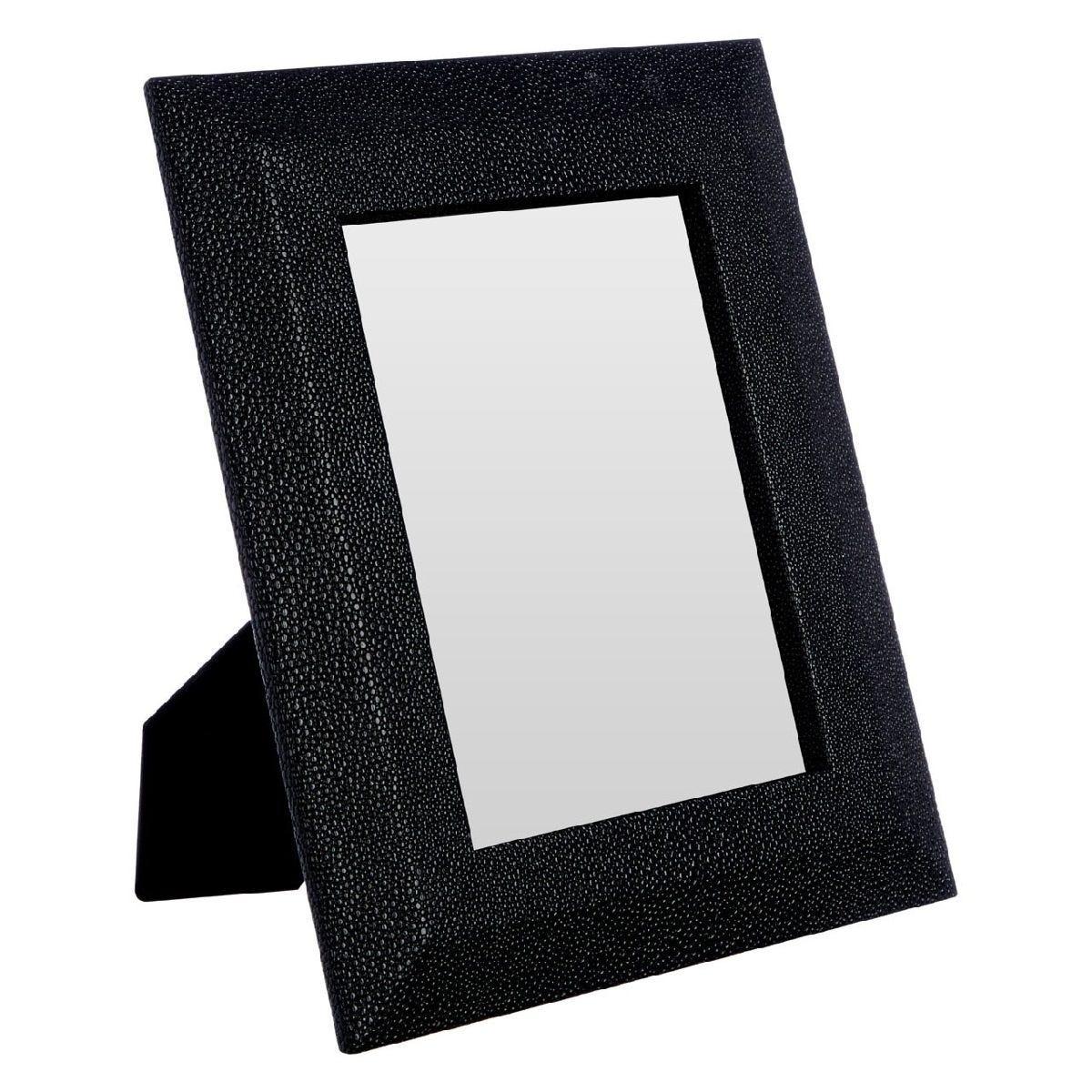Premier Housewares Pacific Photo Frame Black Faux Shark Skin 6in x 8in