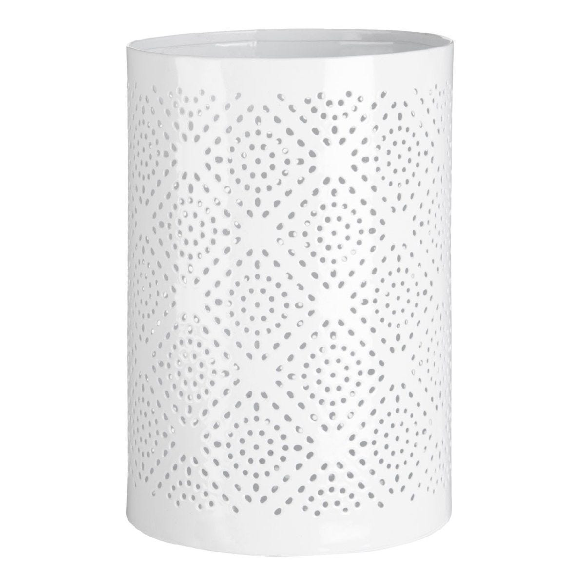 Premier Housewares Complements Large Hurricane Candle Holder - White Finish