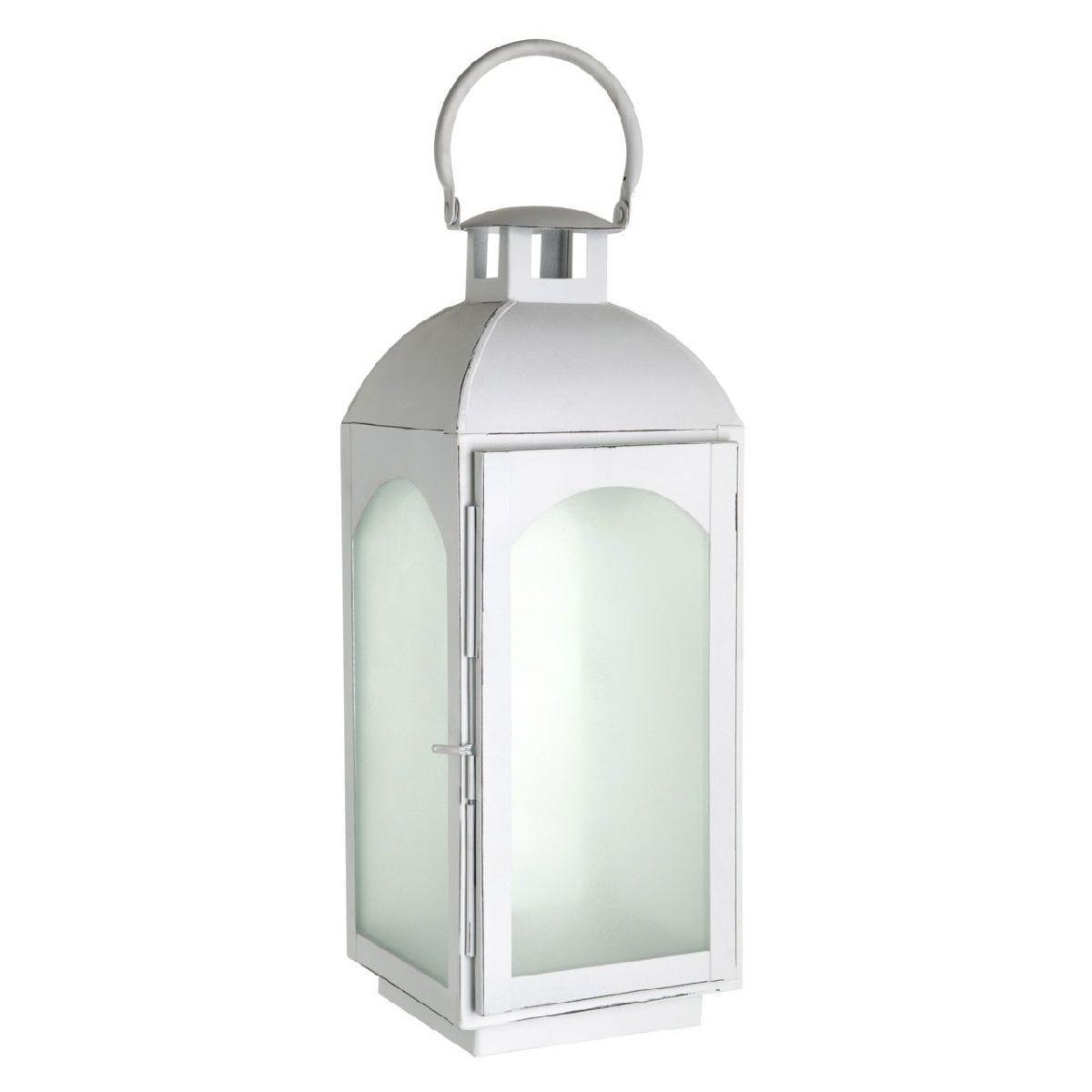 Premier Housewares Complements Small Lantern - White Wash